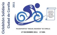 El III Ciclobitón Solidario Ciudad de Corella se celebrará el 17 de diciembre
